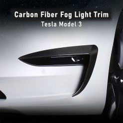 Carbon Fibre Fog Light Trim for Tesla Model 3