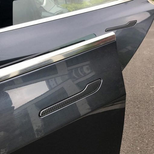 Tesla Model 3 Door Handle Protector Carbon Fibre