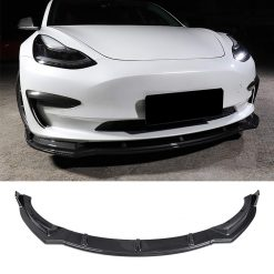 Carbon Fibre Front Lip Spoiler for Tesla Model 3