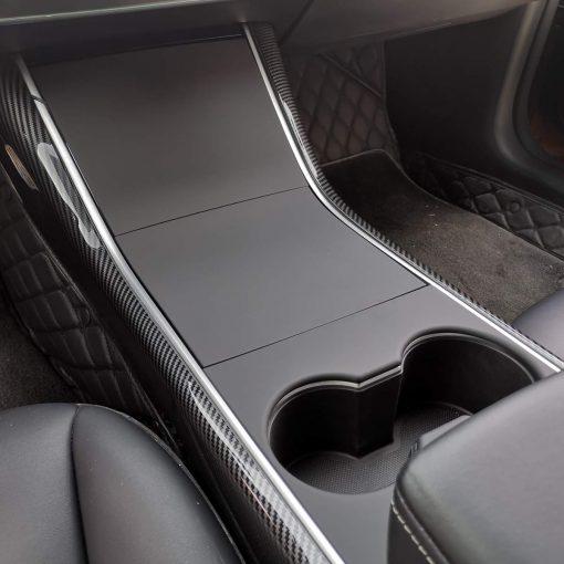 Tesla Model 3 Moulded Centre Console Covers Matte Black