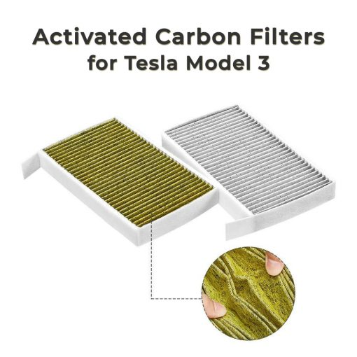 Activated Carbon Cabin Air Filters for Tesla Model 3