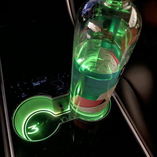 Cup Holder LED Light Pad for Tesla Model 3