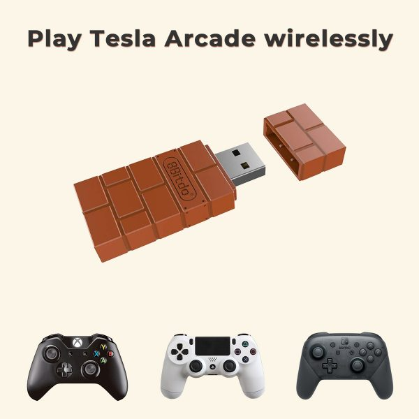 8Bitdo Wireless Game Controller Adapter for Tesla